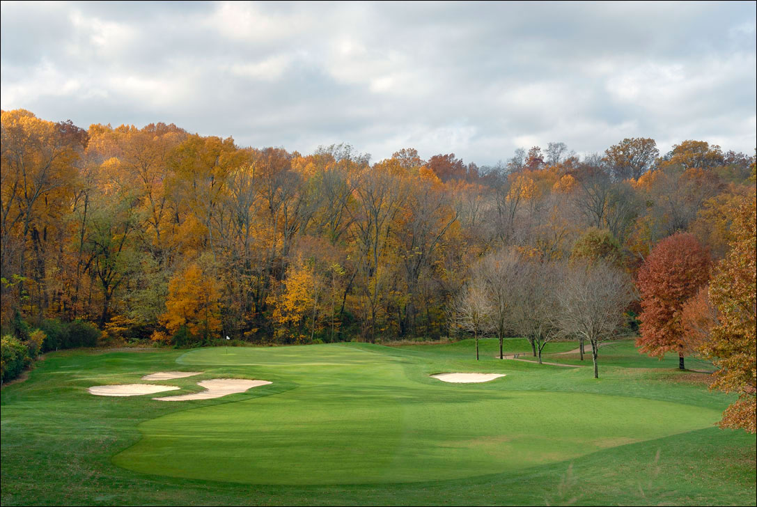 golf course fairway in fall