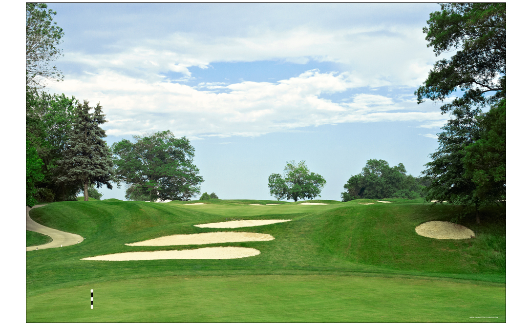 golf course photography of fairway
