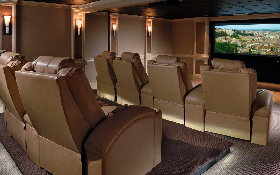 residential photography of movie screen room