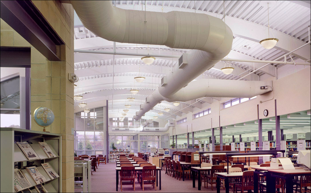 commercial photography architecture of library interior