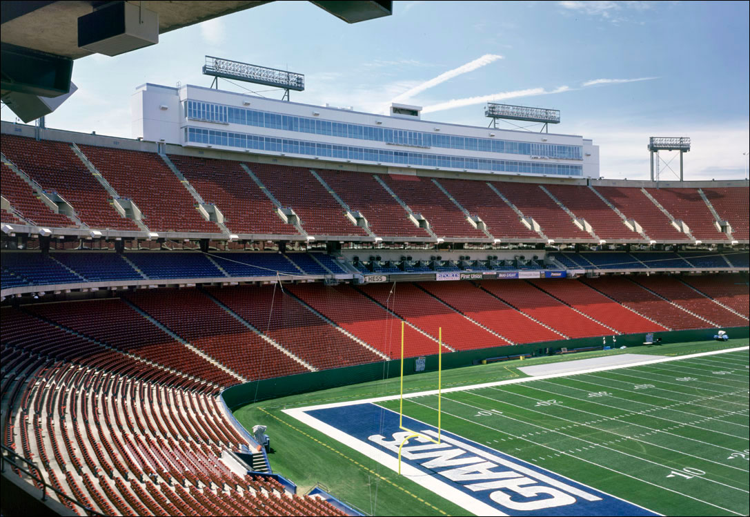 commercial architectural photography of giants stadium