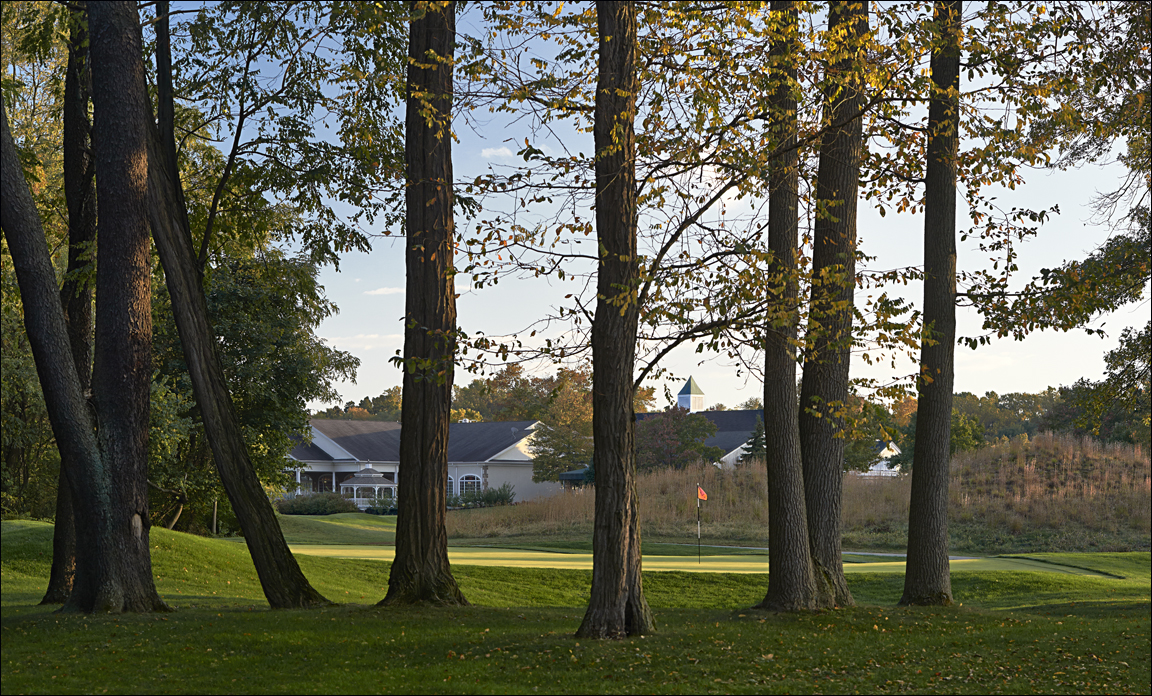 golf course photography of green hole